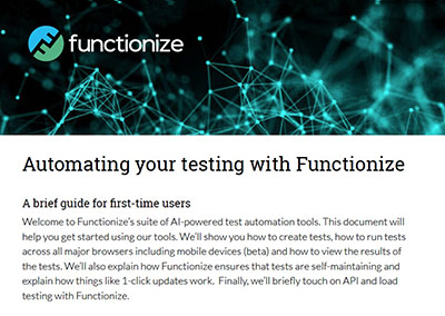 Automating your Testing with Functionize